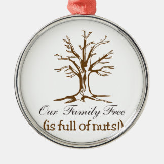 Full of Nuts Round Metal Christmas Ornament