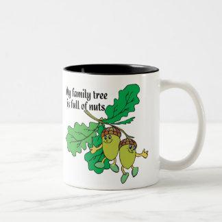 Full of Nuts Two-Tone Coffee Mug