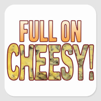 Full On Blue Cheesy Square Sticker
