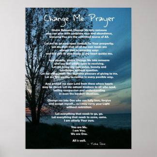 Full on Change Me Prayer Poster