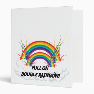FULL-ON DOUBLE RAINBOW BINDER