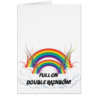FULL-ON DOUBLE RAINBOW CARD