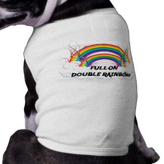 FULL-ON DOUBLE RAINBOW PET CLOTHES