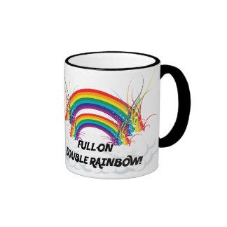 FULL-ON DOUBLE RAINBOW COFFEE MUG