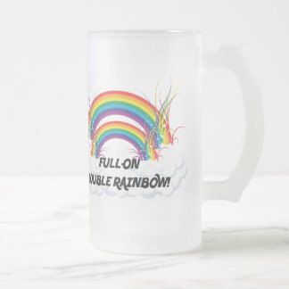 FULL-ON DOUBLE RAINBOW COFFEE MUGS