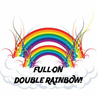 FULL-ON DOUBLE RAINBOW PHOTO SCULPTURE