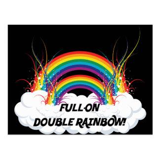 FULL-ON DOUBLE RAINBOW POSTCARD