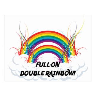 FULL-ON DOUBLE RAINBOW POST CARDS