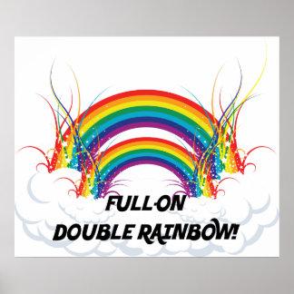 FULL-ON DOUBLE RAINBOW POSTER