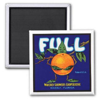 Full - Orange Crate Label Fridge Magnet