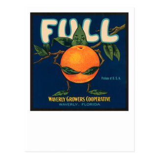 Full - Orange Crate Label Postcard