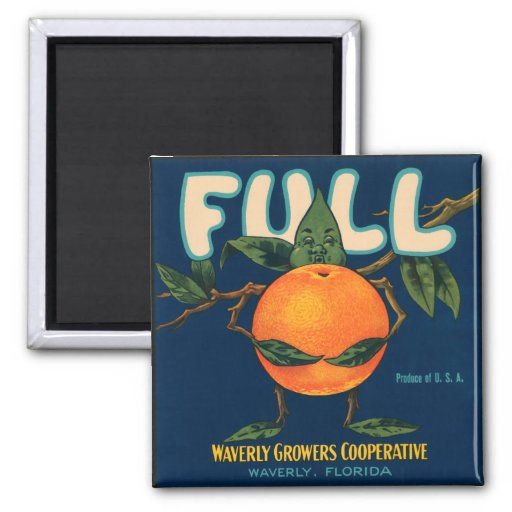 Full - Orange Crate Label Refrigerator Magnets