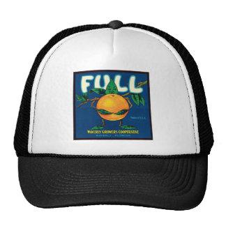 Full Orange Vintage Label Trucker Hat