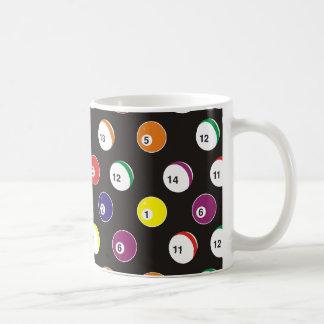 full pattern billiard theme classic white coffee mug