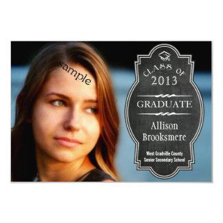 Full Photo 2 sided Chalkboard Plaque Graduation Card