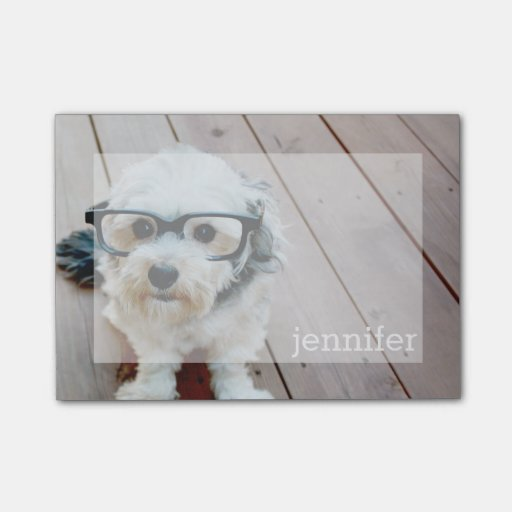 Full Photo Design with Custom Name Post-It Notes