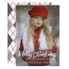 Full Photo Merry Christmas, Argyle Card