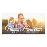 Full Photo Script Happy Hanukkah Photocard Photo Card