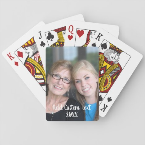 Full Photo - Vertical Custom Text Playing Cards