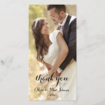 """Full Photo Wedding Thank You Card<br><div class=""""desc"""">Send your family and friends an elegant photo card of your wedding day. Make it a day to remember by saying thank you in a personalized,  stylish way.</div>"""