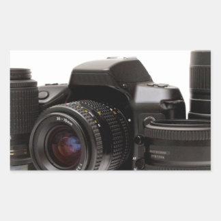 full photography set rectangular sticker