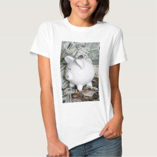 Full piggy bank t-shirt