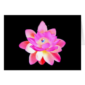 FULL PINK LOTUS WITH PEARL CHAKRA BLOOM CARD
