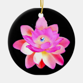 FULL PINK LOTUS WITH PEARL CHAKRA BLOOM ORNAMENT
