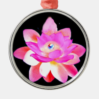 FULL PINK LOTUS WITH PEARL CHAKRA BLOOM ORNAMENTS