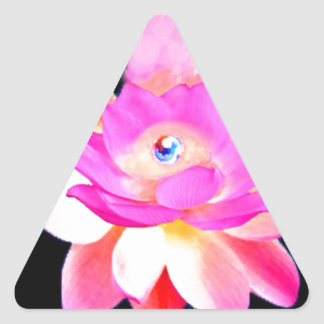 FULL PINK LOTUS WITH PEARL CHAKRA BLOOM TRIANGLE STICKER