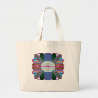 """""""full plate"""" crazy quilt tote bag"""