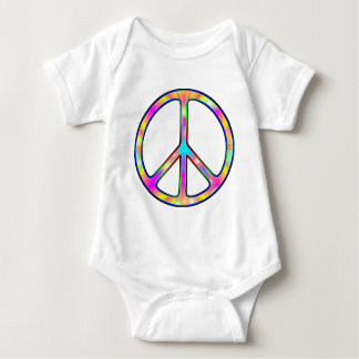 Full Psychedelic Peace Sign Baby Bodysuit