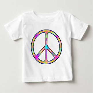 Full Psychedelic Peace Sign Baby T-Shirt