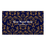 Full Purple Brown Damask Business Card