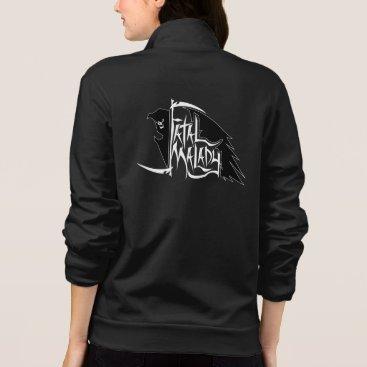 Halloween Themed Full REAPER black womens jacket 1