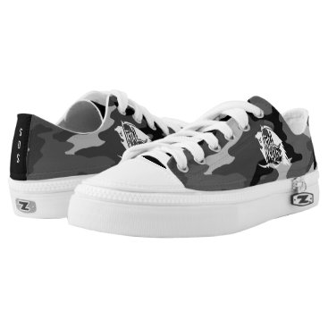 Halloween Themed Full REAPER WHITE SDS GREY CAMO SHOES