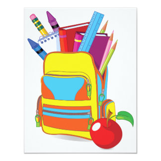 Full School Bag Invitations