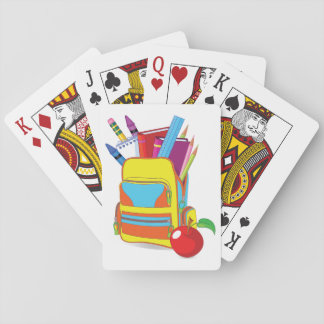 Full School Bag Playing Cards