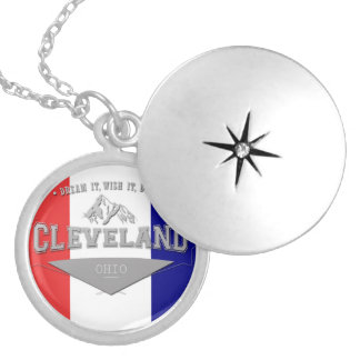Full Screen Cleveland Ohio Dream Silver Plated Necklace