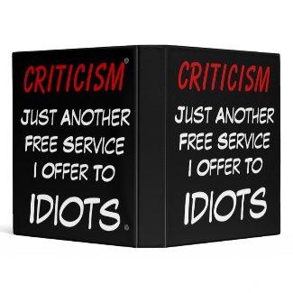 Full-Service Criticism binder