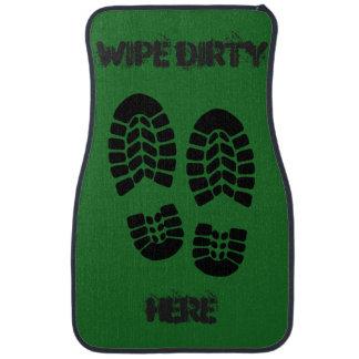 Full Set of Green Dirty Feet Car Mats