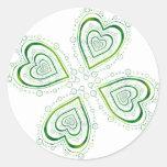 Full Shamrock Round Stickers