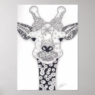 Full Size Giraffe Poster