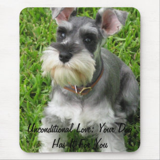 Full Size Mini Schnauzer Mouse pad