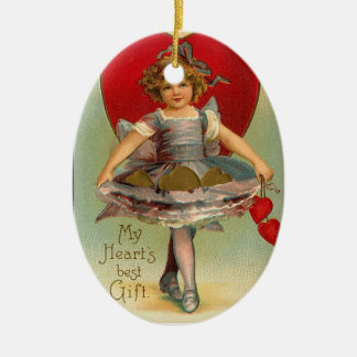 Full Skirts Heart Valentine Ornament