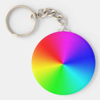 Full Spectrum Rainbow Basic Round Button Keychain