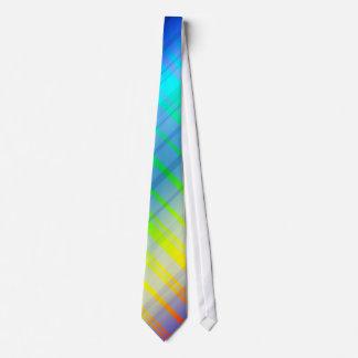 Full Spectrum Rainbow Plaid Tie #2