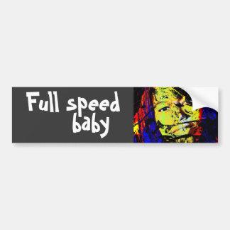 full speed baby bumper sticker