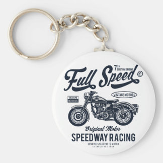 Full Speed Speedway Racing Keychain