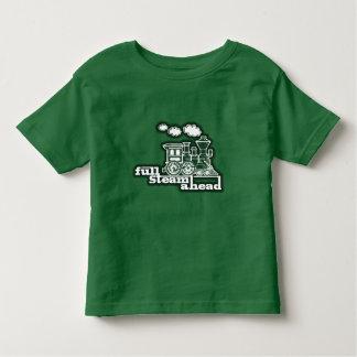 """""""full steam ahead"""" loco train green kids t-shirt"""